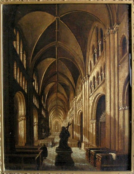 Interior of Bonn Cathedral, attributed to Henry Milbourne [1781-1826]