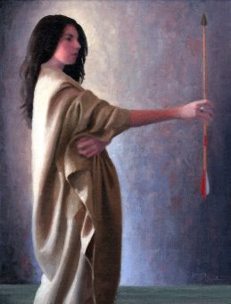 Clare with Arrow, by Charles Pompilius